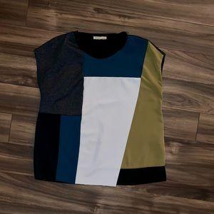 Zara Multicolored Top. Size Small.
